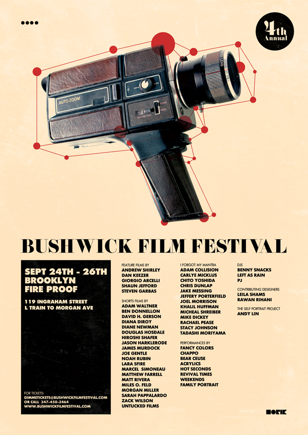 Bushwick Film Fest Poster Ivory I Was Recently Asked To Design The For This Years Festival